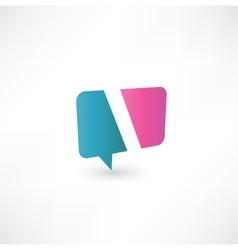 Abstract bubble icon based on the letter I vector image