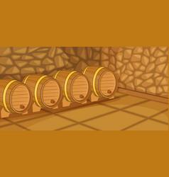 beer cellar horizontal banner cartoon style vector image