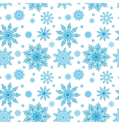 blue seamless pattern with snowflakes to christmas vector image vector image