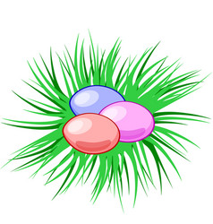 eggs in a nest easter christian symbol vector image vector image