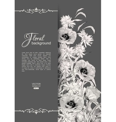 Floral Romantic Card vector image vector image