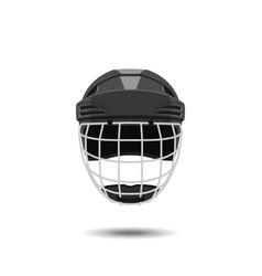 hockey helmet on a white background vector image