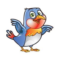 Robin Bird Mascot vector image vector image