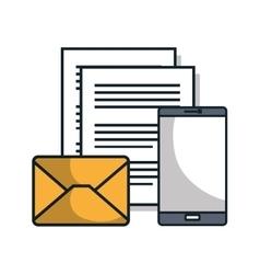 smartphone technology data flat icon vector image