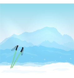 Wintersports in France vector image vector image
