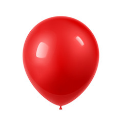 3d realistic colorful balloon holiday flying vector image