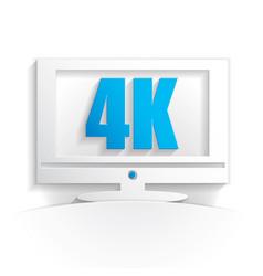4k tv icon vector