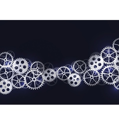 Abstract technical background with gears vector