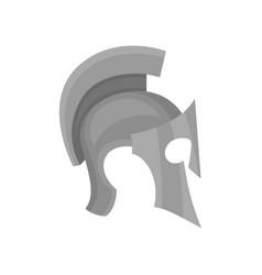 Armour spartan helmet medieval protective vector