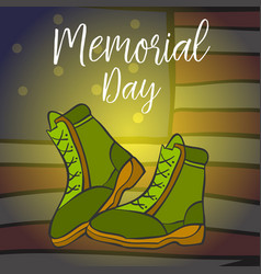 Art of memorial day doodles vector