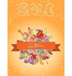 Autumn sales banner vector image