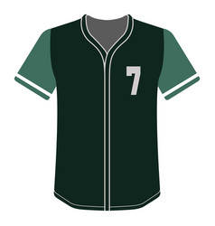 baseball shirt icon vector image