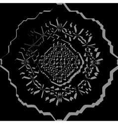 Black ornamental pattern vector image