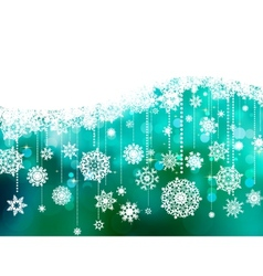 blue christmas background with copy space eps 8 vector image