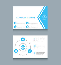 business card template business card template vector image