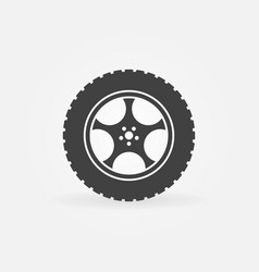 car wheel with tyre concept icon vector image