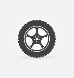 Car wheel with tyre concept icon vector