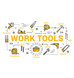 Carpentry and woodwork tools diy toolkit vector