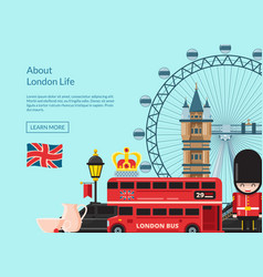 cartoon london sights vector image