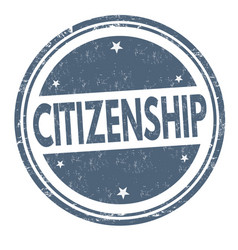 Citizenship grunge rubber stamp vector
