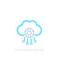 cloud storage settings icon vector image