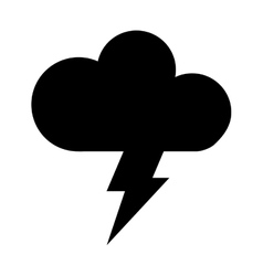 Cloud with ray climate sign isolated icon vector