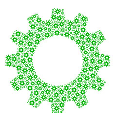 Cog mosaic of new star icons vector