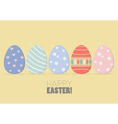 Colorful easter eggs vector image vector image