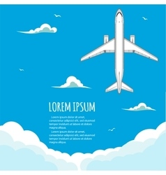 Commercial flights in airplanes vector image
