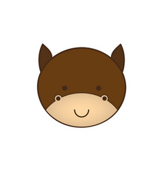 Cute horse animal head expression vector