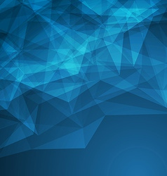 Dark modern abstract crystal background vector image