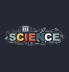 Design concept word science website banner vector