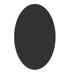Filled ellipse flat icon vector