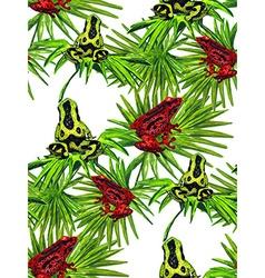 Frog pattern2w vector