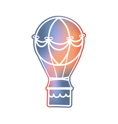 Futuristic hot air balloon vector