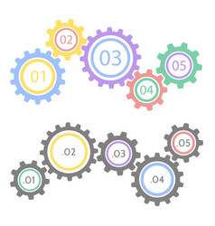 gear statistic concept infographic business vector image