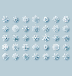 geometric winter snowflakes abstract geometry vector image