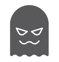 ghost glyph icon horror and character horror vector image