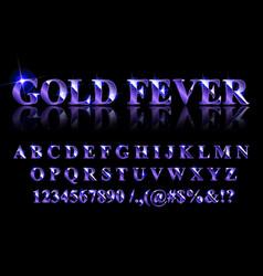 Golden blue english alphabet vector