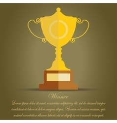 golden cup winner award vector image