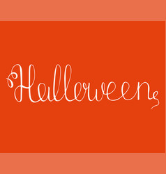 Hand-drawn fantasy lettering for halloween party vector