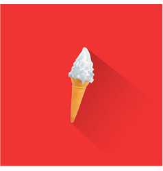 ice cream and cone on red background eps file vector image