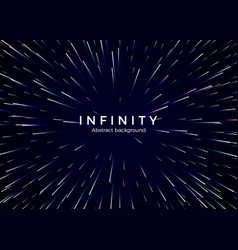 infinity and space abstract background travel vector image