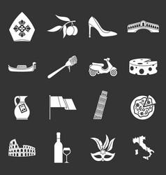 Italia icons set grey vector