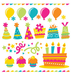 lets party clip art collection vector image