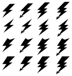 Lighting of thunder vector