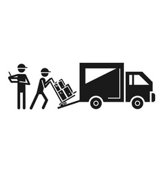 Loading delivery truck icon simple style vector