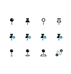 Mapping Pin duotone icons on white background vector