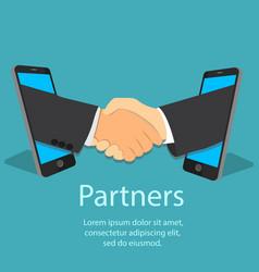 mobile partnership concept vector image