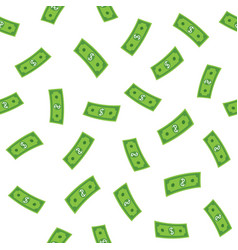 Money rain seamless pattern vector